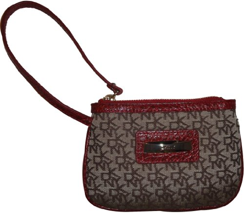 DKNY DKNY Wristlet Slgs Town and Country Classics Red/Chino