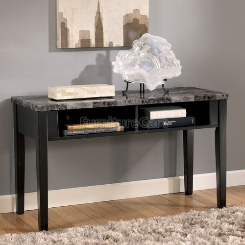 Cheap Contemporary Sofa Console Table TV Stand Faux Marble Top (T204-4)