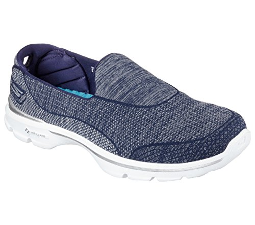 Skechers Performance Women's Go Walk 3 Super Sock 3 Walking Shoe, Navy/White, 8 M US (Skechers Go Walk Super Sock compare prices)