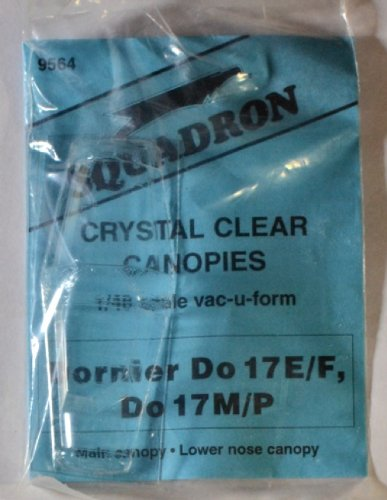 Squadron Products Dornier Do 17E/M/P Vacuform Canopy Set 1