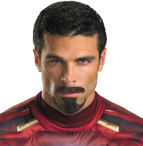 Disguise Marvel Iron Man 3 Tony Stark Facial Hair Costume Accessory, Brown, One Size