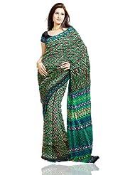 Unnati Silks Women Dupion Silk Printed Black Saree