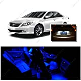 Ameritree Blue LED Lights Interior Package + White LED License Plate Kit for Toyota Camry with Sunroof 2012-2014 (9Pcs)