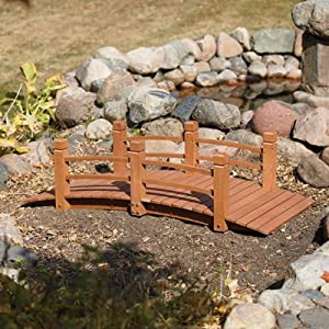 Wooden decorative bridge garden bridges for Decorative fish pond bridge