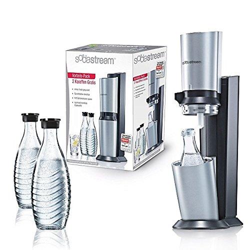 SodaStream Crystal Design Vorteils-Pack Wassersprudler titanfarbig