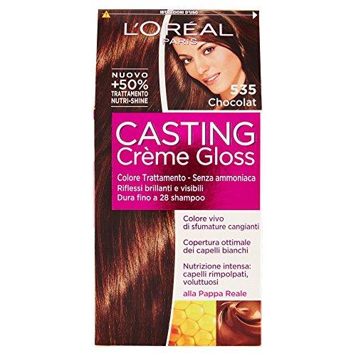L'Oréal Paris Casting Crème Gloss Colore Trattamento senza Ammoniaca, 535 Chocolat