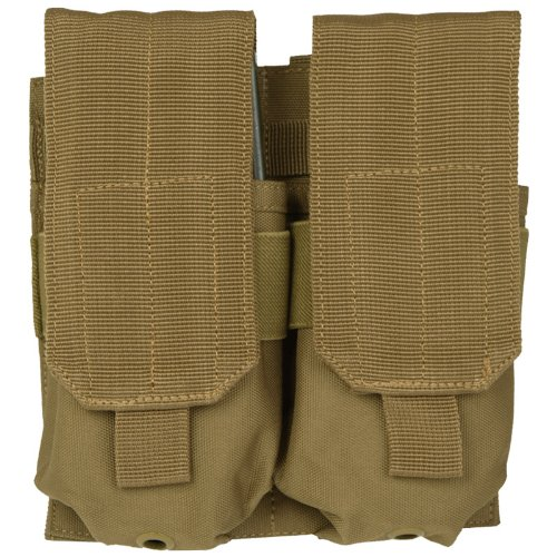 Military Double M4/M16 Magazine Ammo Pouch MOLLE System Airsoft Shooting Coyote