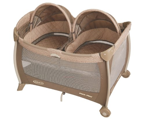 double bassinet pack and play