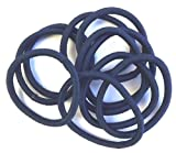 Bling Online 10pc Endless Snag Free 4.5cm Hair Elastics. (Navy Blue.)