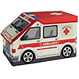 Ambulance Toy Storage Box and Closet Organizer for Kids