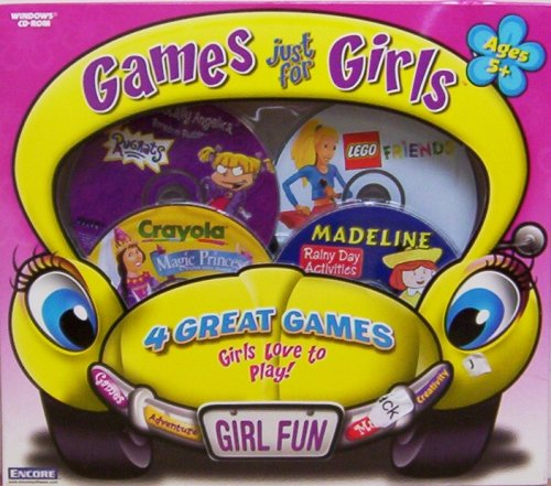 ENCORE Games Just For Girls - Lego-Friends, Madeline Rainy Day, Rugrats Boredom Buster, Crayola Magic Princess