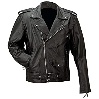 Rocky Mountain Hides Solid Genuine Buffalo Leather Jacket