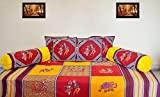 RajasthaniKart Traditional 8 Piece Diwan Set - 100%Cotton