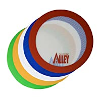 "Non-stick Mat Pad [5 Fun Colors] - Silicone Rolling Baking Pastry Placemat Large Round 9.5"" - (Value Pack - Set of 5) by Silicone Alley"