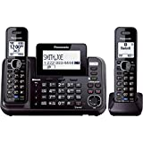 Panasonic KX-TG9542B Link2Cell Bluetooth Enabled 2-Line Phone with Answering Machine & 2 Cordless Handset
