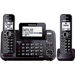 Panasonic KXTG9542B Dect_6.0 1-Handset 2-Line Landline Telephone