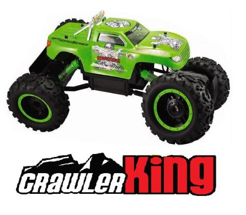 RC Rock Crawler King 4WD 1/12 Electric Buggy Radio Control RTR R/C 4x4 Crawling Truck (Color May Vary)