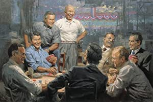Republican Presidents Playing Poker Andy Thomas Grand Ol Gang Tribute Edition Giclee Limited Edition Artist Signed & Numbered Canvas Print