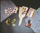 むかし遊び 人気商品!おもちゃ おちゃめセット (羽子板、リリアン、羽根、おはじき、千代紙、あやとり、ゴムとびひも、お手玉)