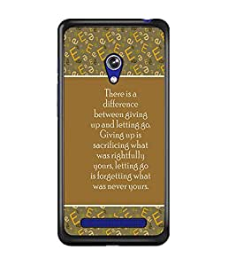 PrintDhaba Quote D-3170 Back Case Cover for ASUS ZENFONE 5 A501CG (Multi-Coloured)