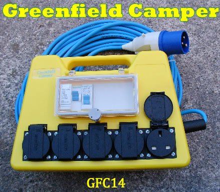 Mains Mobile RCD Electric Hook Up Unit GFC14