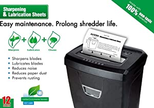 Aurora SP1000 Shredder Lubrication and Sharpening Sheets (Pack of 12)