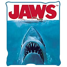 Silver Buffalo JW0127 Jaws Movie Poster Throw Blanket, 50 by 60\
