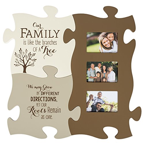 Family Like The Branches On A Tree 20 x 20 Puzzle Piece Photo Frame Set of 3 (1000 Piece Personal Photo Puzzle compare prices)