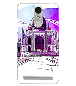 PrintDhaba Taj-Mahel D-2857 Back Case Cover for LENOVO K5 NOTE (Multi-Coloured)