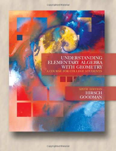 Understanding Elementary Algebra With Geometry: A Course For College Students (6Th Edition W/Cd-Rom) front-1012666