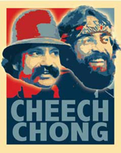 Licenses Products Cheech and Chong Retro Sticker