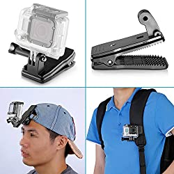 Neewer® 360° Rotary Backpack Hat Clip Fast Clamp Mount for GoPro Hero 1 2 3 3+ 4