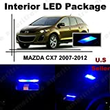 Ameritree Mazda CX-7 2007-2012 (6 Pieces) Blue LED Lights Interior Package and Blue LED License Plate Kit