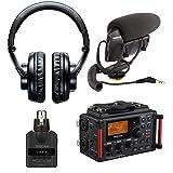 Tascam DR-60DmkII Portable Digital Recorder Bundle with Shure VP83 Camera-Mounted Microphone & Tascam DR-10X XLR Plug-On Linear PCM Digital Recorder - DSLR Audio Recording Kit