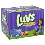 Luvs Diapers, Ultra Leakguards, Size 4 (22-37 lb) 82 diapers