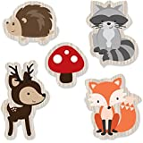 Woodland Creatures - DIY Shaped Party Cut-Outs - 24 Count