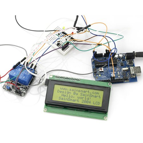 Sainsmart C62 Kit With Uno + 2-Channel Relay Module + Iic 2004 Lcd + Prototype Shield For Arduino Uno Mega2560 1280 Duemilanove R3 Avr Atmel Robot