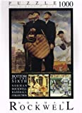 """Norman Rockwell """"Bottom of the Sixth"""" 1000pc Puzzle"""