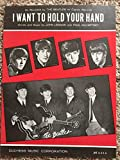 Vintage The Beatles Sheet Music I Want To Hold Your Hand