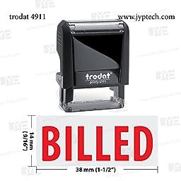 New Trodat 4911 Self Inking Rubber Stamp w. Billed
