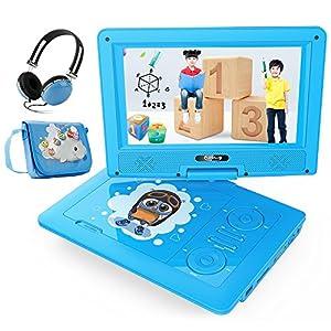 子供用 ポータブルDVDプレーヤー 9型 リージョンフリー 車旅 勉強 目に優しい SDカード/USBメモリー対応