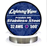 LV Stainless Steel 316L Wire 32 AWG - 500'