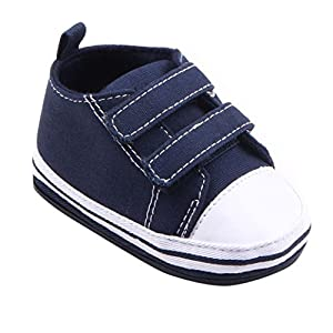 Sagton Baby Toddler Infant Fall Boys Girls Canvas Soft Sole Sneaker Shoes (Size:11, Blue)