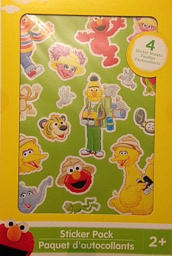 Sesame Street Sticker Pack - 4 Sheets