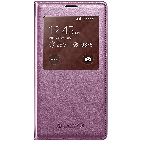 Samsung S-View Case Cover for Galaxy S5 - Glam Pink