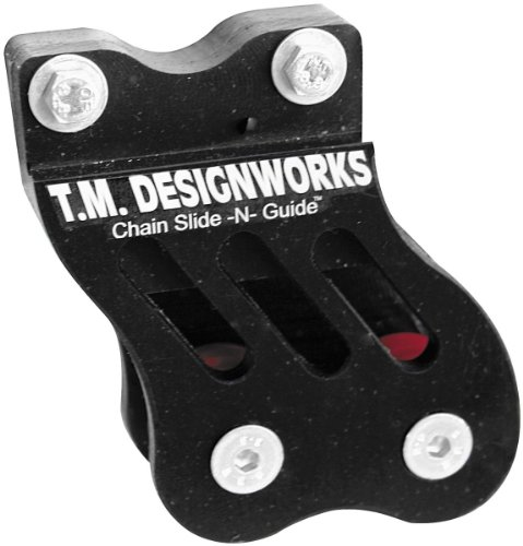 T.M. Designworks Rear Chain Guide And Dual Powerlip Roller - Black Rcg-Trx-Bk