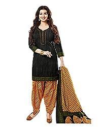 Aarvi Women's Cotton Unstiched Dress Material Multicolor -CV00101