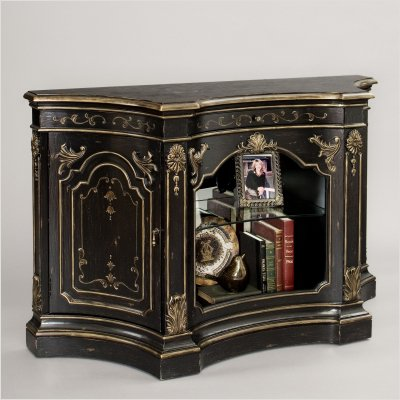 Buy Pulaski Madrid Accent Console Cabinet in Distressed Antique Black 974123 B004O6QE60