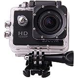SJCAM Multi-function SJ4000 HD 1080P Waterproof Digital Video Recorder DVR Camcorder, 12 Mega pixel, 170° HD wide-angle, Multi Colors, with Waterproof Case Multiple Mounts (Black)