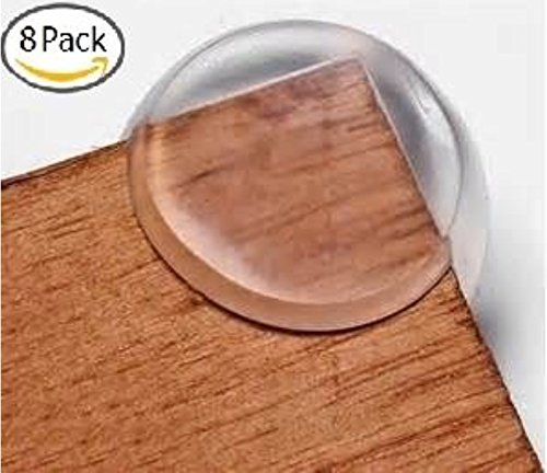 The Hamptons Baby Caring Corners 8-pack Premium Clear Corner Guards. Keep Children Safe, Protect From Injury Around the House. (Coffee Table Corner Guards compare prices)
